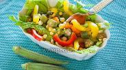 Фото рецепта Салат с бамией и свежими овощами