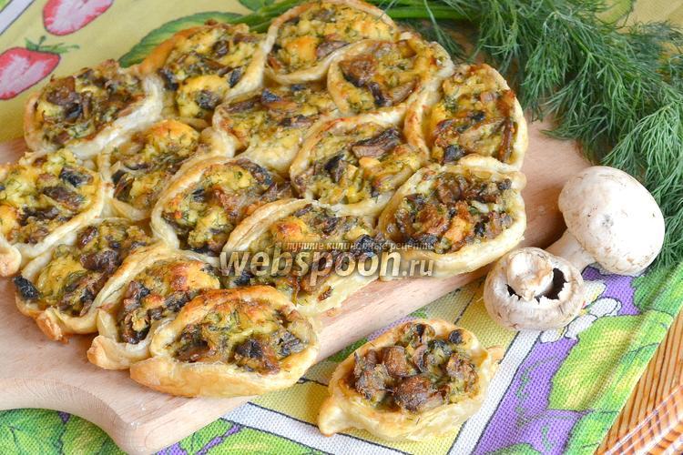 Фото Пирог с грибами и сыром «Соты»