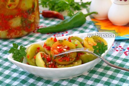 Закуска из зелёных помидоров на зиму
