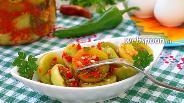 Фото рецепта Закуска из зелёных помидоров на зиму