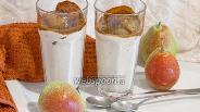 Фото рецепта Творожный смузи с грушами и маком