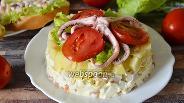 Фото рецепта Салат с осьминогами и кальмарами