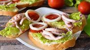 Фото рецепта Бутерброды с кальмарами, осьминогами и сыром