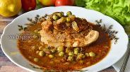 Фото рецепта Мясо в горшочках в калиновом соусе
