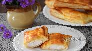 Фото рецепта Слойки с курицей и сыром