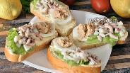 Фото рецепта Бутерброды с осьминогами и икрой трески