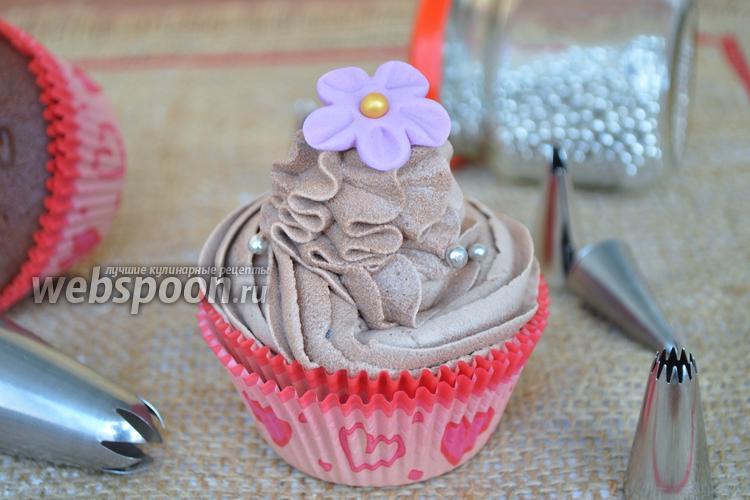 Фото Шоколадно-кофейный крем для тортов