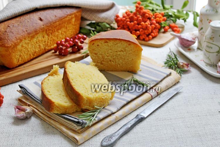 Фото Тыквенный хлеб с чесноком и розмарином