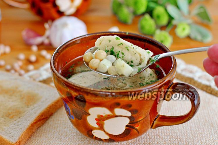 Фото Гороховый суп с клёцками в мультиварке