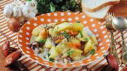 Фото рецепта Подосиновики с картошкой и луком-пореем в сметане