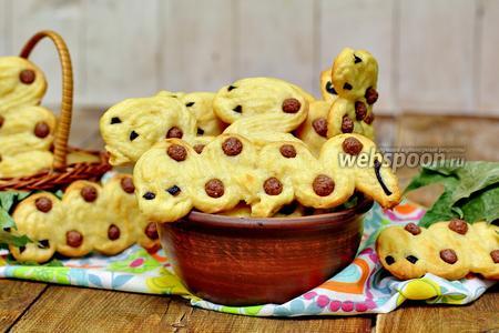 Солёное печенье «червячки»