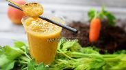 Фото рецепта Смузи с сельдереем, яблоком, апельсином и морковью