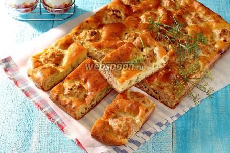 Пирог с рыбными фрикадельками