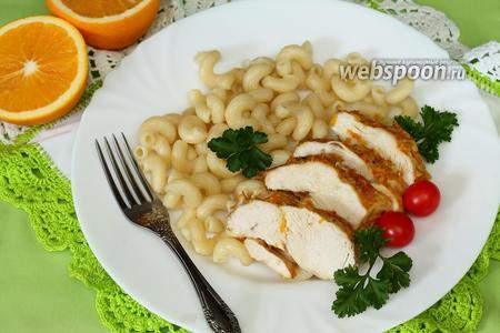 Куриное филе, запечённое в имбирно-апельсиновом маринаде
