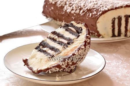 Торт из шоколадного печенья