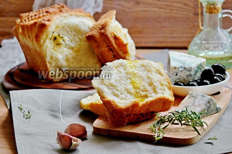 Фото Хлеб «Гармошка» с сыром, розмарином и чесноком