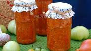 Фото рецепта Икра из зелёных помидоров с морковью на зиму