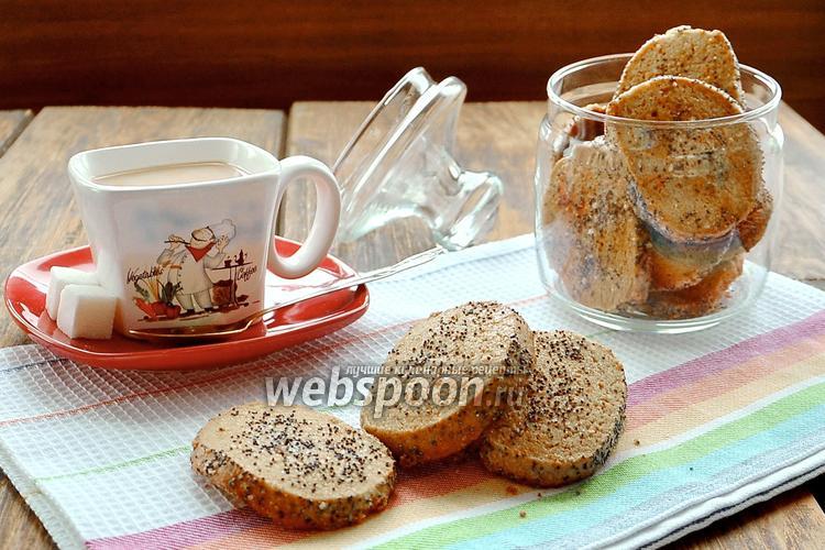 Фото Печенье из гречневой муки с маком