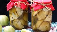 Фото рецепта Маринованные зелёные помидоры острые