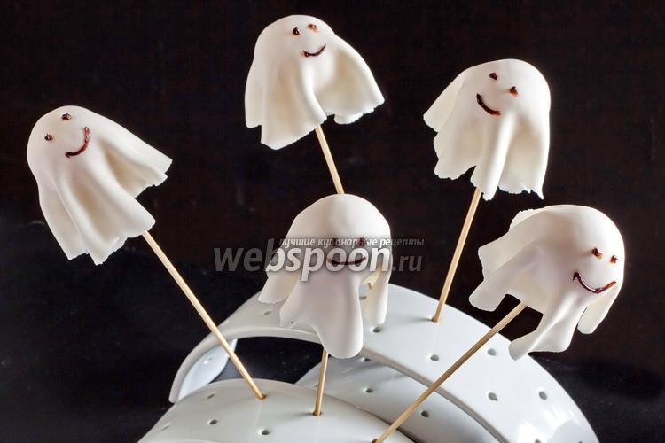 Фото Кейк-попсы на Хэллоуин «Привидения»