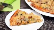 Фото рецепта Пицца с курицей, укропом, вёшенками и кукурузой