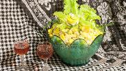Фото рецепта Салат Рассолс с курицей и скумбрией
