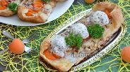 Фото рецепта Слойки с абрикосами, орешками и мороженым