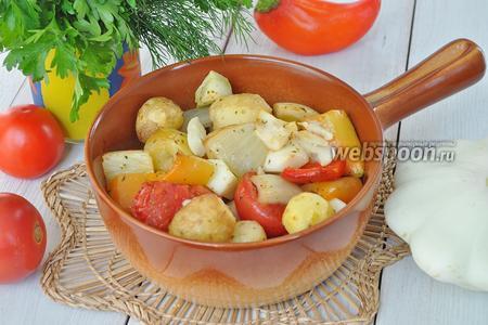 Фото рецепта Овощное ассорти в рукаве