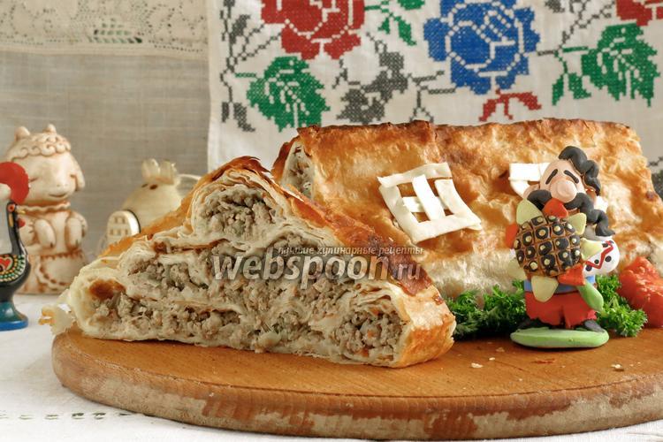 Фото Пирог мясной из лаваша