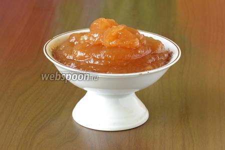 Подаём конфитюр, как десерт, или используем в блюдах, структура устойчивая, держит форму. Можно использовать, как приятное украшение блюд. Приятного аппетита!