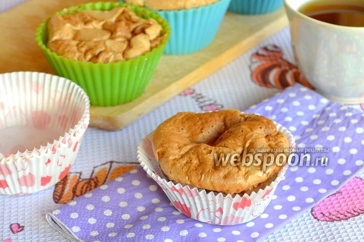 Фото Шоколадные кексы с виноградом и безе