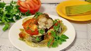 Фото рецепта Скумбрия с овощами в духовке