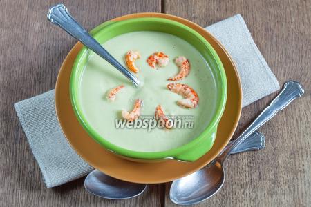 Суп из авокадо с раками