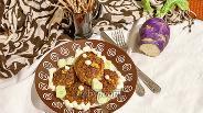 Фото рецепта Свиные котлеты с кольраби в духовке