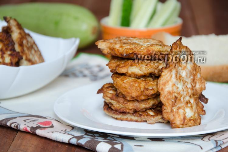 Фото Оладьи из курицы с кабачком