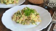 Фото рецепта Салат с курицей, морковью и зеленью