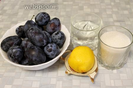 Для приготовления пастилы взять чернослив, сахар, воду, лимонный сок и масло (для смазки).