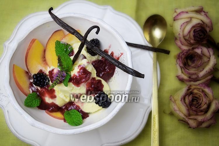 Фото Стевийно-ванильное мороженое