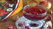 Фото рецепта Варенье из клюквы с яблоками и грецкими орехами