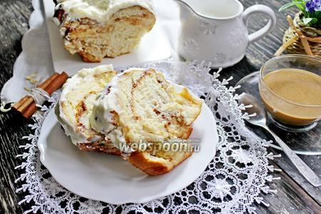 Пирог «Гармошка» с корицей