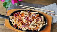 Фото рецепта Тёплый салат с соевой спаржей