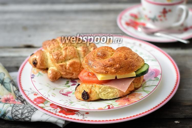 Фото Полбяные сдобные сэндвичи