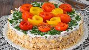 Фото рецепта Торт овощной закусочный со сливочным кремом