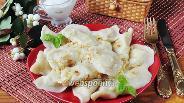 Фото рецепта Вареники с картошкой и салом