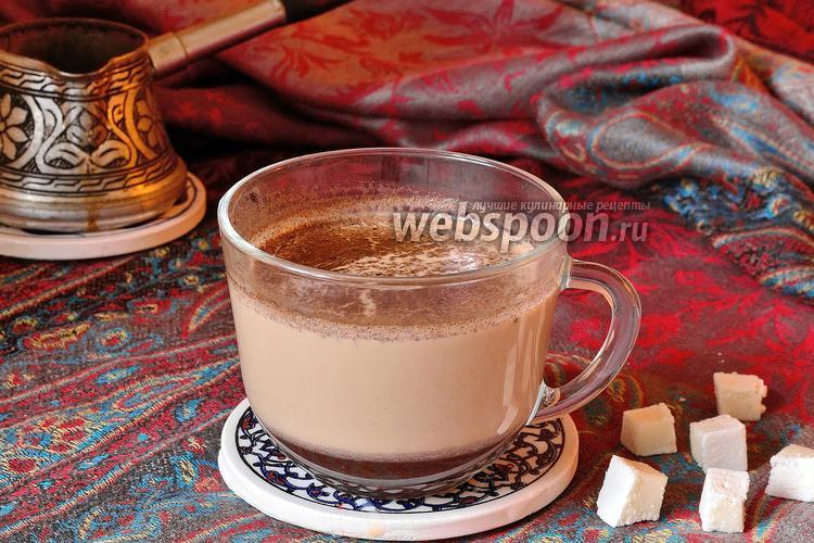 Фото Кофе со специями на молоке в турке