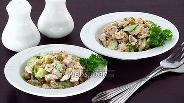 Фото рецепта Салат куриный с грецкими орехами