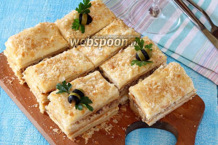 Фото Закусочный торт наполеон