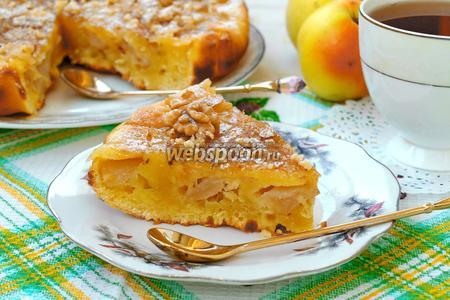 Пирог с яблоками на сметане