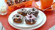Фото рецепта Шоколадные пончики