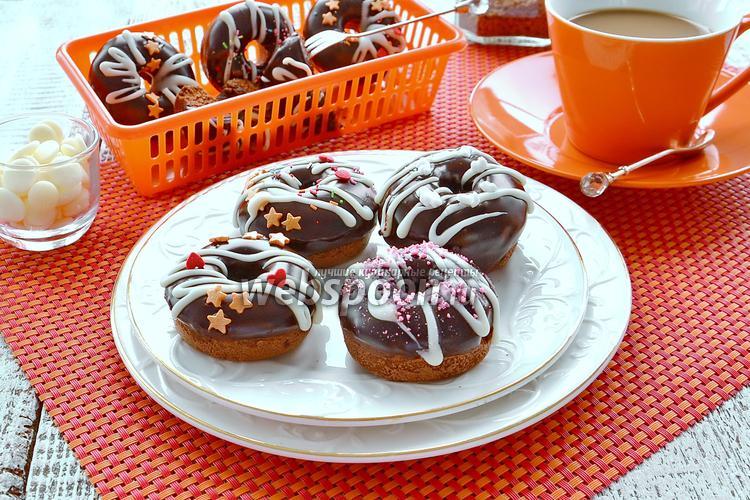 Фото Шоколадные пончики